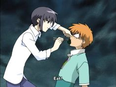 The funniest scene in fruits basket ever.