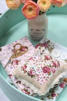 Learn to make this antique rose pin cushion with Angie Wilson of www.GnomeAngel.com.