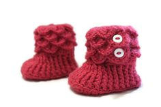 Crochet Crocodile Baby Girl Slipper Booties in 612 by makinitmama, $20.00