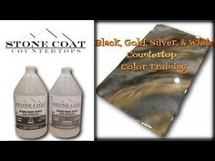 (24) How to make a black, gold, silver, & white counter top color training - YouTube