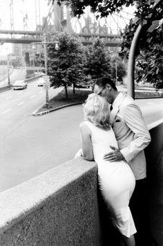 Marilyn Monroe & Arthur Miller by 59th Street...