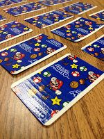 Super Hero / Mario Brothers duct tape idea to cover cards