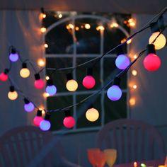 PARTY LIGHT - Guirlande d'extérieur LED 20 Lumières Pastel L10,7m Best Season : Guirlande lumineuse composée de20 sphèresmulticolore dans les tons pastel à LED équipées d'...