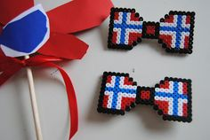 17. mai-pynt - perler beads 'round the world