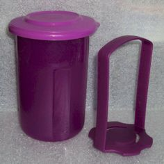 "New Tupperware SMALL Pick a Deli Round Pickle Keeper, Purple by Tupperware. $19.99. SMALL Pick-a-Deli Round Container with lift-out strainer, great for pickles or olives. Purple in Color. Dishwasher safe. Measures 5 1/2"" high x 4"" diameter across the top. Tupperware Lifetime Warranty against breaking, cracking, chipping, peeling with non-commercial use.. Small Tupperware Pick-a-Deli container with lift-out strainer. Holds about 2 cups (500mL). Good size for olives, j..."
