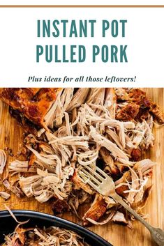 Instant Pot Pulled Pork is tender as if you'd cooked it all day. Find out which cut of pork is best, get side dish suggestions, plus leftover pulled pork ideas! Pulled Pork, Instant Pot, Side Dishes, Community, Dessert, Cooking, Ethnic Recipes, Ideas, Food