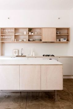 plywood kitchen built-ins via the design files / sfgirlbybay