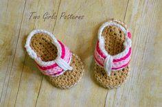 Crochet Pattern for Sporty Flip Flop Baby por TwoGirlsPatterns, $5,50