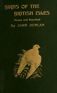 Decorative cover of 'Birds of the British Isles' drawn and described by John Duncan. Published 1898 by Walter Scott Ltd. American Museum of Natural History Library. Biodiversity Heritage Library.archive.org