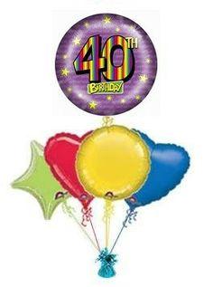 40th Rainbow Peggy Steacher Balloon Bouquets