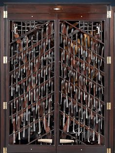 An intricate tool cabinet filled with woodworking tools has recently gone up for sale through the M. Rau Antiques company in New Orleans. The cabinet bears some thematic similarity to the famed H… Tools Tools diy Tools for beginner Tools must have