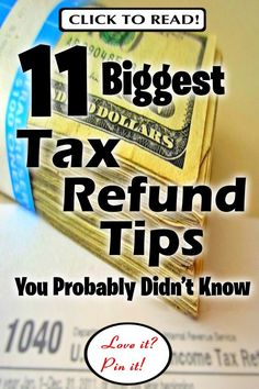 11 Biggest Tax Refund Tips You Probably Didn't Know Business Tax Deductions, Bookkeeping Business, Tax Refund, Small Business Accounting, Business Writing, Money Penny, Budget Binder, Tax Preparation, Income Tax