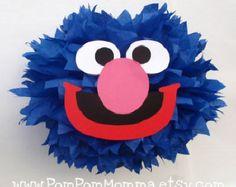 Grover carácter inspirado Pom