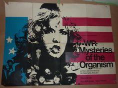 WR: Mysteries of the Organism, UK quad (1971),  Director: Dusan Makavejev Writer: Dusan Makavejev Stars: Milena Dravic, Ivica Vidovic, Jagoda Kaloper