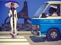 Lady crossing by the Beherawi Theater by Daniel Getahun!
