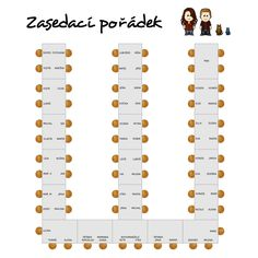 Zasedací pořádek :: hrichy Wedding Paper, Wedding Day, Table Arrangements, 30th Anniversary, Diy And Crafts, Banquet Tables, Wedding Stuff, Mariage, Weddings