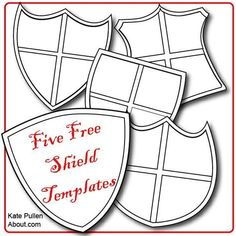 Free shield templates for DIY - who knew shields could be so verstile!