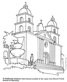 california missions history coloring pages for kids california missions california history 4th grade social