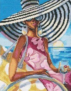 Набор для вышивания РТО М472 Эффектные женщины в роскошных местах