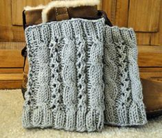 Cable Eyelet Boot Cuffs - Knitting Patterns and Crochet Patterns from KnitPicks.com