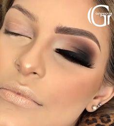 Smoky Eye Makeup, Eye Makeup Steps, Makeup Eye Looks, Eye Makeup Art, Dark Makeup, Contour Makeup, Glam Makeup, Eyeshadow Makeup, Smoky Eyeshadow