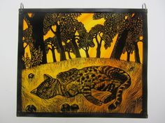 """Autumn Orchard Sunshine"" by stained glass artist, Tamsin Abbott"