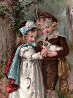 Agnes Gardner King (1856 – 1925, English) | Children With A Puppy