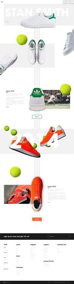 Adidas Stan Smith concept website.
