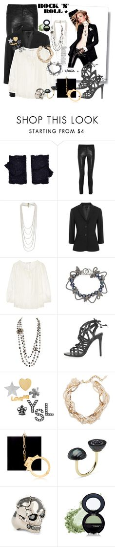 Rock This! by hattie4palmerstone on Polyvore featuring мода, Alice + Olivia, The Row, Isabel Marant, Topshop, Charlotte Olympia, Erickson Beamon, Alexander McQueen, Yves Saint Laurent and Pearl & Black