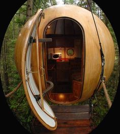 Ewok style treehouse ~ The spheres are suspended in trees and accessible by a series of rope bridges. The 11ft wide eco friendly house can sleep four, allowing families to live in the forest without the need to worry about their carbon footprints