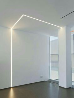 Recess linear LED lighting from the doorway and go down near the vanity.