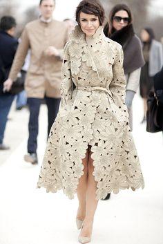 What a unique coat, very pretty!