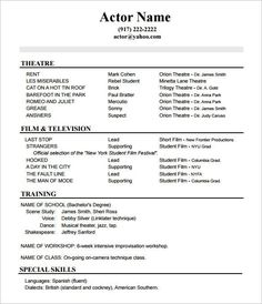 Inspiring Theatrical Resume Template Pictures actor with images acting resume template acting resume Theatrical Resume Template. Here is Inspiring Theatrical Resume Template Pictures for you. √ The General Format And Tips For The Theatre Resume Templa... Acting Resume Template, Resume Outline, Sample Resume Templates, Resume Template Free, Templates Free, Medical Assistant Resume, Student Resume, Resume Format Download