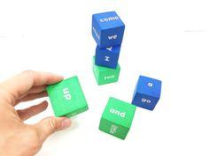Sight words mini foam cubes, dice