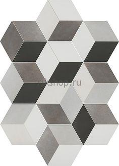 Напольная плитка Toscana Tridi Negro 25,8x29