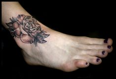 Small Inner Ankle Tattoos | Small ankle rose