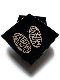 Earrings / earcuffs - lasercut wooden earrings - Holes