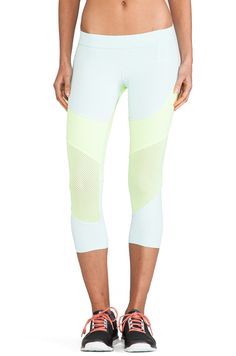 Shop for adidas by Stella McCartney Run Tight Legging in Fresh Aqua & Ultra Glow at REVOLVE. Free day shipping and returns, 30 day price match guarantee. Sport Fashion, Fitness Fashion, Fitness Wear, Workout Wear, Workout Style, Stella Mccartney Adidas, Tight Leggings, Athletic Wear, Revolve Clothing