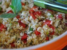 Salát   Receptárna – vaše online kuchařka Fried Rice, Fries, Steak, Ethnic Recipes, Food, Bulgur, Red Peppers, Essen, Steaks
