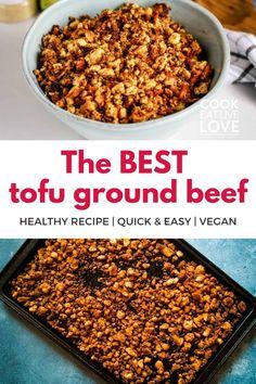 Recipes Using Tofu, Tofu Recipes, Plant Based Recipes, Vegetarian Recipes, Cooking Recipes, Healthy Recipes, Mexican Recipes, Healthy Dinners, Recipies