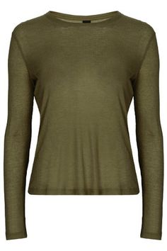 Long Sleeve Ribbed Tee by Boutique