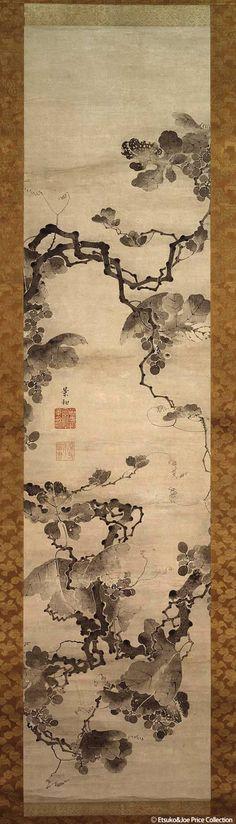 Ito Jakuchu / Grape Figure (Japanese) 葡萄図