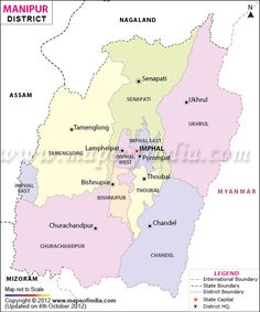 Manipur District Map