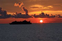 All Things Considered STL - Scenic Art - ship at sunset from ship to ship