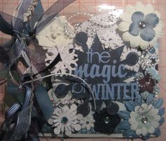 Acrylic Winter scrapbook album