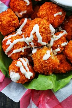Buffalo Popcorn Chicken