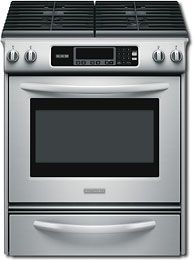 """KitchenAid - Architect Series II 30"""" Self-Cleaning Slide-In Gas Range - Stainless-Steel"""