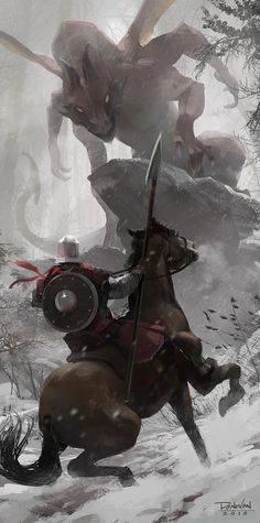 """Cold Confrontation"" by Donovan Valdes | Progression pictures inside | #Fantasy #Dragon"