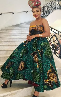 South African actress Nomzamo Mbatha shares stylish African print dresses and pantsuit ideas. Nomzamo's Ankara style outfits and beauty looks Ankara Long Gown Styles, Ankara Gowns, Ankara Styles, Ankara Designs, African Print Dresses, African Fashion Dresses, African Dress, African Prints, African Outfits