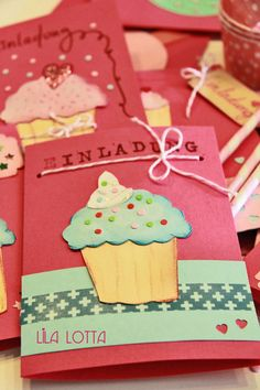 Cupcake Einladungskarten DIY ... ~ Lila Lotta